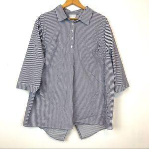 Ava & Viv Womens Size 3X Striped Blouse Shirt